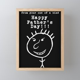 Happy Father's Day from Doodle Dude Framed Mini Art Print