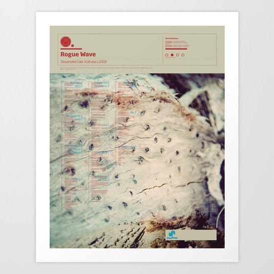 The Visual Mixtape 2010   Descended Like Vultures   25 / 25 Art Print