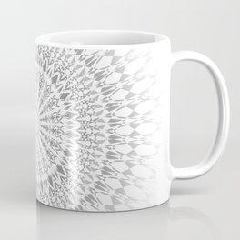 Gray White Mandala Coffee Mug