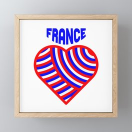 j'aime la france Framed Mini Art Print
