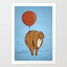 Float On, Bear, Float On Art Print
