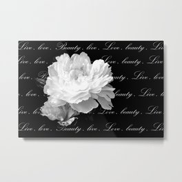Floral And Graphic II Metal Print