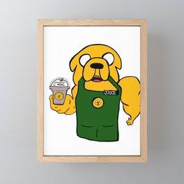 Jake the barista Framed Mini Art Print