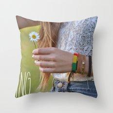 Waiting for Summer Throw Pillow