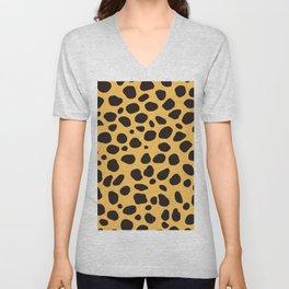 Cheetah Pattern_A Unisex V-Neck