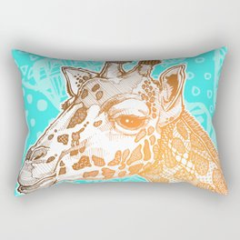 Zentangle Giraffe (Face) Rectangular Pillow