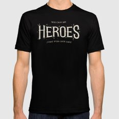 Heroes Mens Fitted Tee LARGE Black