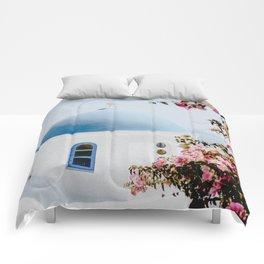 Santorini, Greece Comforters