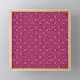 Pink flowers on pink Framed Mini Art Print