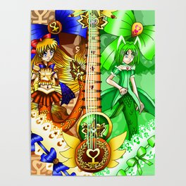 Sailor Mew Guitar #24 - Sailor Venus & Mew Retasu Poster