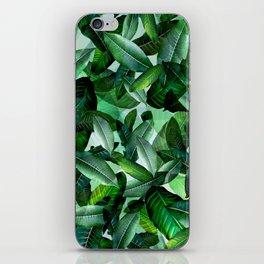 Banana palm leaf tropical jungle green iPhone Skin