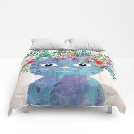 Flower cat II Comforters