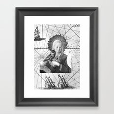 Vierge à l'oiseau Framed Art Print