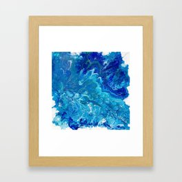 Dark Ocean Blue Framed Art Print
