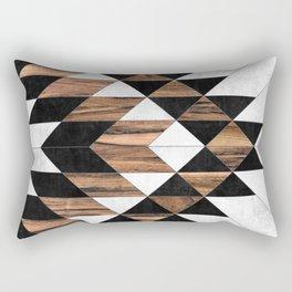 Urban Tribal Pattern No.9 - Aztec - Concrete and Wood Rechteckiges Kissen