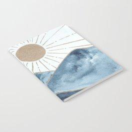 Indigo & gold landscape 1 Notebook