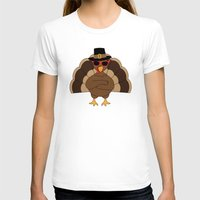 T-shirts featuring Cool Turkey with sunglasses Happy Thanksgiving by PLdesign