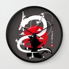 Kung Fu Dragon Wall Clock
