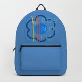 Free surfing blue Backpack