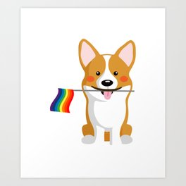 LGBT Gay Pride Flag Corgi - Pride Women Gay Men Kunstdrucke