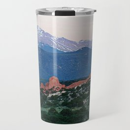 Sunrise at Garden of the Gods and Pikes Peak Travel Mug