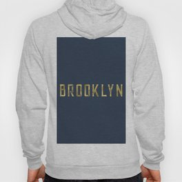 Brooklyn in Gold on Navy Hoody