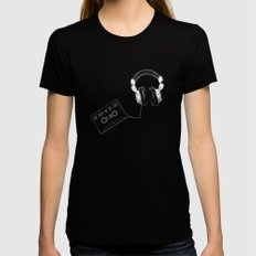 Music, please! Black SMALL Womens Fitted Tee