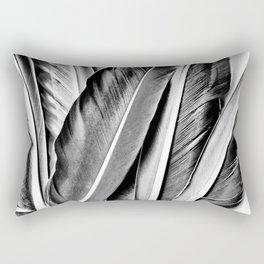 Feather Details Rectangular Pillow