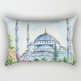 Istanbul watercolor Rectangular Pillow