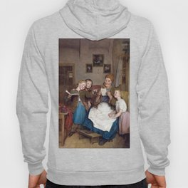 Ferdinand Georg Waldmüller Grandmother with Three Grandchildren Hoody