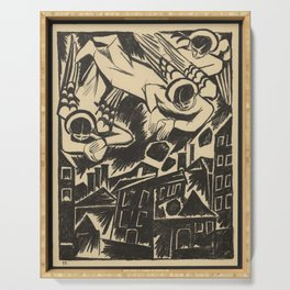 Natalia Goncharova - Mystical Images of War (1914) - The City is Doomed Serving Tray