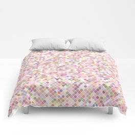 Happy Pastel Square Pattern Comforters