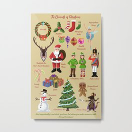 The Elements of Christmas Metal Print
