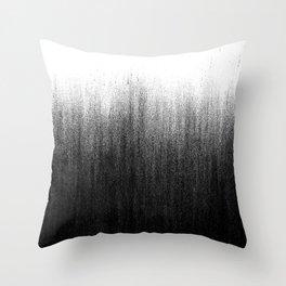 Charcoal Ombré Throw Pillow