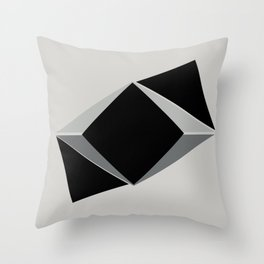 Shapes, black and grays Throw Pillow