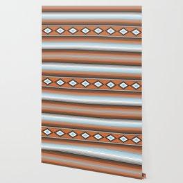Modern Mexican Serape in Technicolor Wallpaper