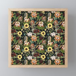 Botanical Puppies Framed Mini Art Print