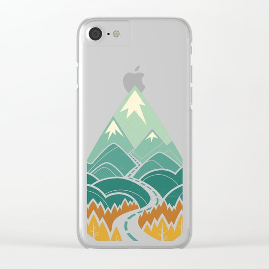 The Road Goes Ever On: Autumn Clear iPhone Case