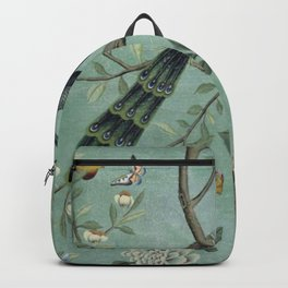 A Teal of Two Birds Chinoiserie Rucksack