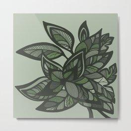 Let Love Grow - Mint Metal Print