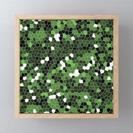 Green Polycamo Framed Mini Art Print