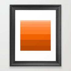 Shades of Orange. Framed Art Print