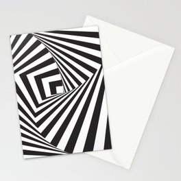 Black And  White Pop Art Optical Illusion Stationery Cards