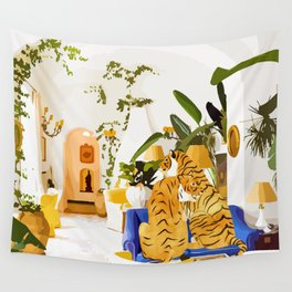 Tiger Reserve #painting #illustration #tigers #wildlife Wall Tapestry