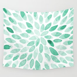 Watercolor brush strokes - aqua Wall Tapestry