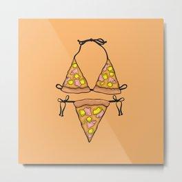 Hawaiian Pizza Bikini Metal Print