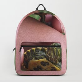 Baby red-eared slider turtle Backpack