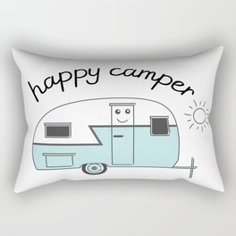 happy camper trailer Rectangular Pillow