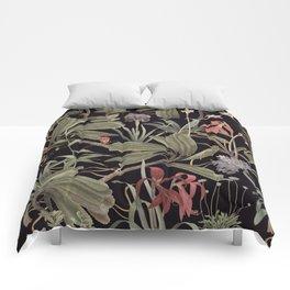Dark Botanical Stravaganza Comforters