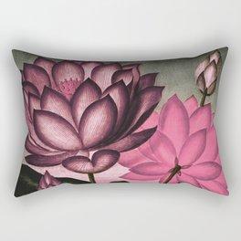 Mauve Pink Sacred Egyptian Bean Temple of Flora Rectangular Pillow